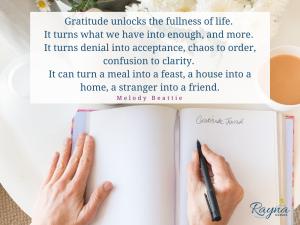 Gratitude unlocks the fullness of life. It turns what we have into enough, and more. It turns denial into acceptance, chaos to order, confusion to clarity. It can turn a meal into a feast, a house into a home, a stranger into a friend.